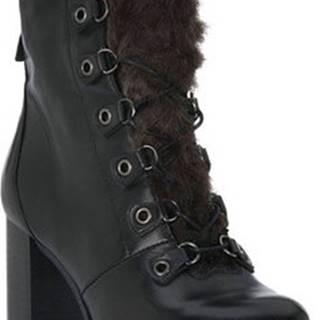 Mjus Kotníkové boty NERO DIRTY Černá