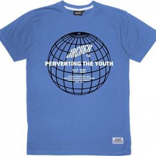 Jacker Jacker Trička s krátkým rukávem Global perversion Modrá