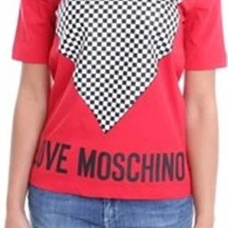Love Moschino Trička s krátkým rukávem W4F152CM3876 Červená