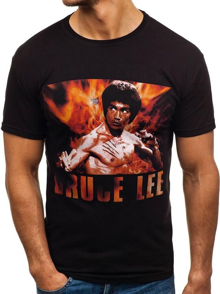 FARO Černé pánské tričko s potiskem