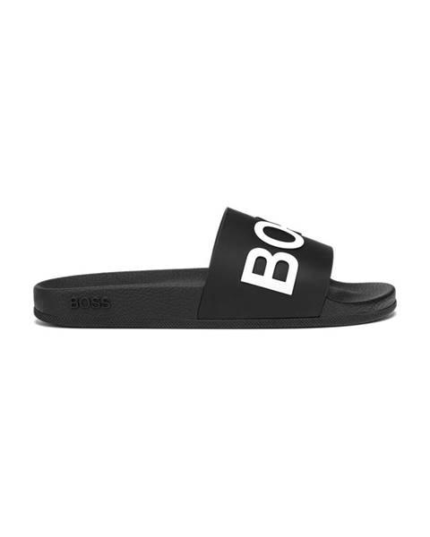 Černé pantofle BOSS