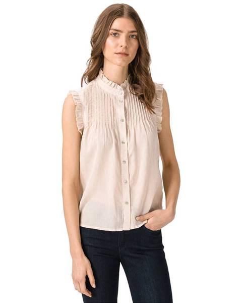 Béžový top vero moda
