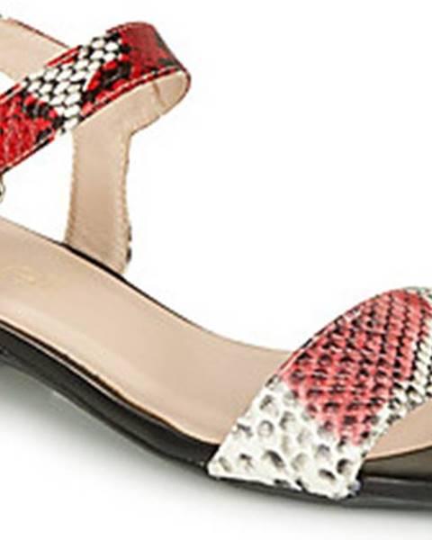 Červené sandály Fericelli