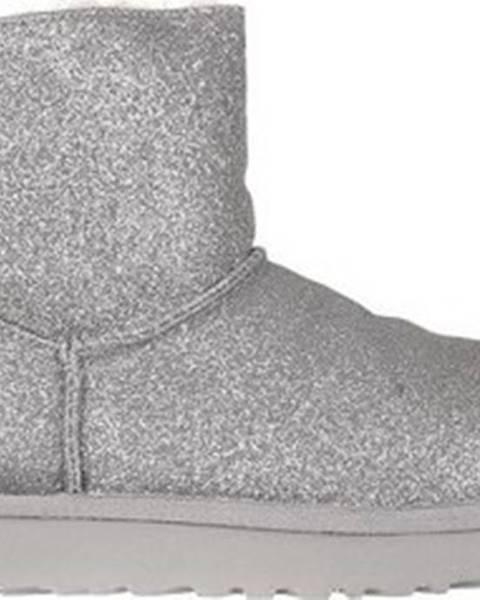 Stříbrné boty ugg