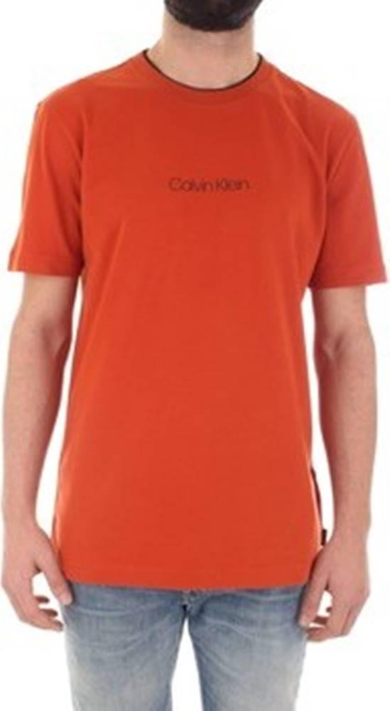 calvin klein jeans Calvin Klein Jeans Trička s krátkým rukávem K10K104934 Oranžová