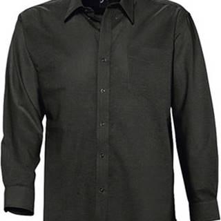 Sols Košile s dlouhymi rukáv BOSTON STYLE OXFORD Černá