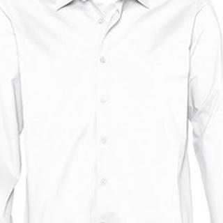 Sols Košile s dlouhymi rukáv BRIGHTON STRECH Bílá