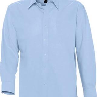 Sols Košile s dlouhymi rukáv BOSTON STYLE OXFORD Modrá