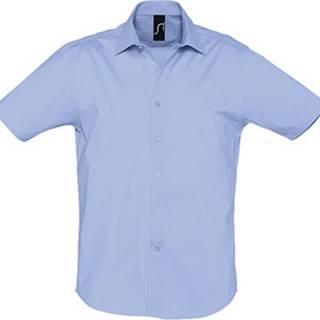Sols Košile s krátkými rukávy BROADWAY STRECH MODERN Modrá