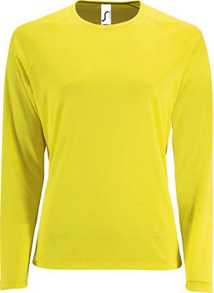 Sols Sols Trička s dlouhými rukávy SPORT LSL WOMEN Žlutá