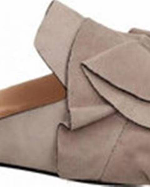 Fialové pantofle Elvio Zanon
