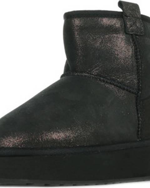 Černé kozačky Emu