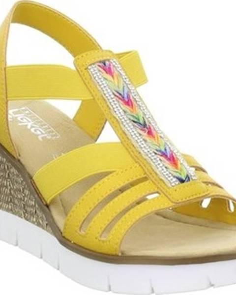 Žluté sandály Rieker