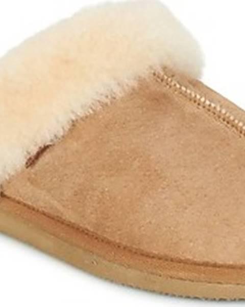 Hnědé domácí boty Shepherd