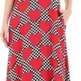 Love Moschino Společenské šaty WVH8400T9938 Červená