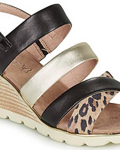 Černé sandály Caprice