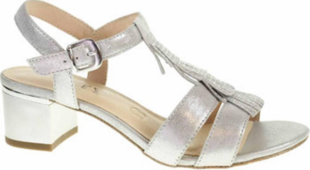 Caprice Caprice Sandály společenské dámské 9-28209-24 silver metal. Stříbrná