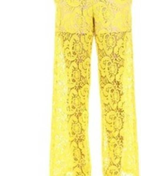 Žluté kalhoty Twinset Mytwin