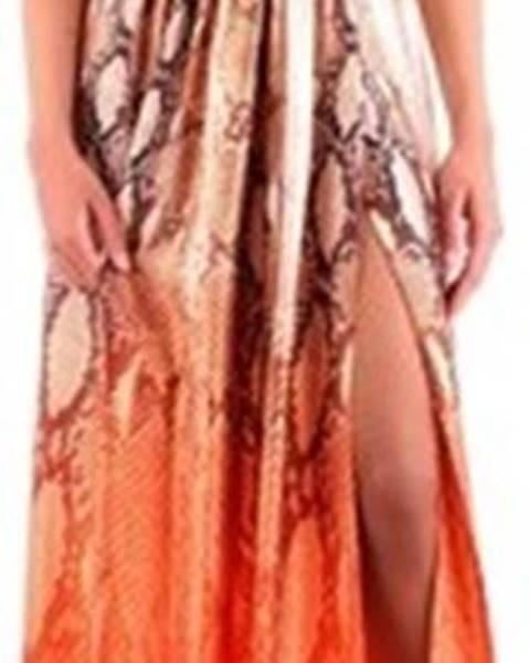 Oranžové šaty Fabiana Ferri