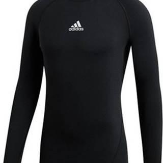 adidas Trička s dlouhými rukávy Alphaskin Climawarm Golf Černá