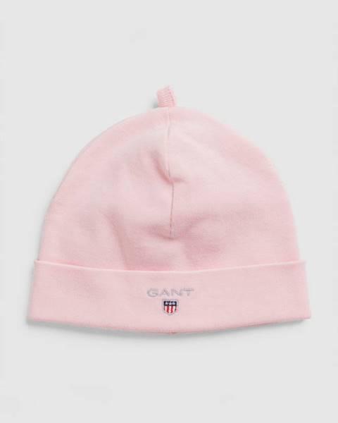 Růžová čepice gant