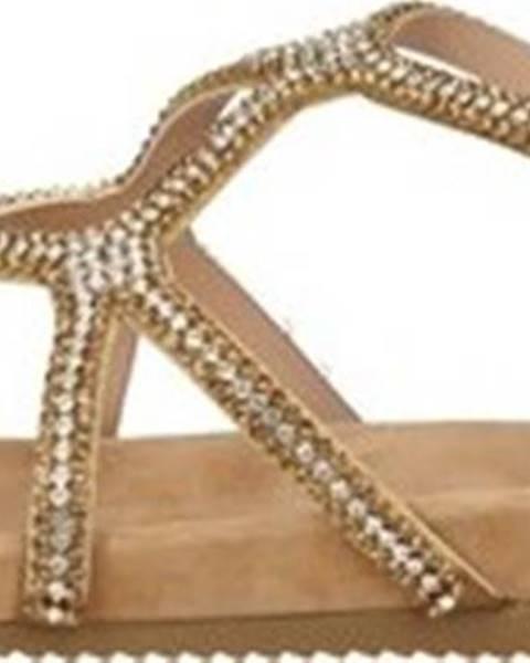Béžové sandály Alma En Pena