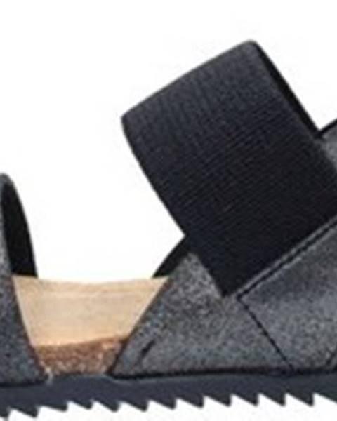Černé sandály Bionatura