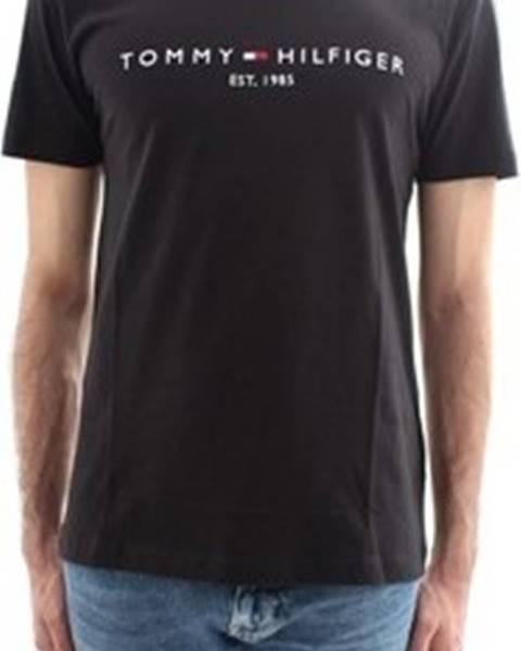 Černé tričko tommy hilfiger