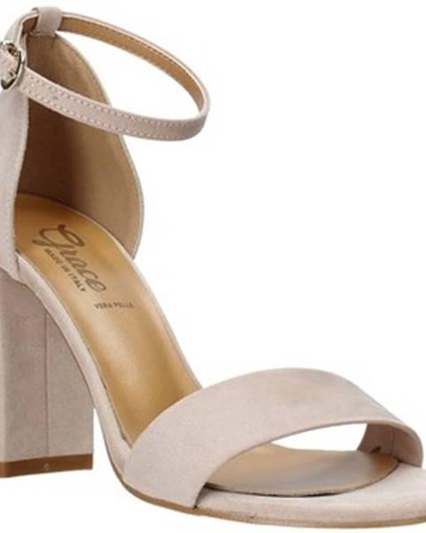 Růžové sandály Grace Shoes