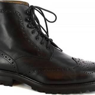 Leonardo Shoes Kotníkové boty 07067/FORMA 40 FULL NERO Černá
