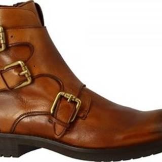 Leonardo Shoes Kotníkové boty 34925/1 PAPUA CUOIO Hnědá