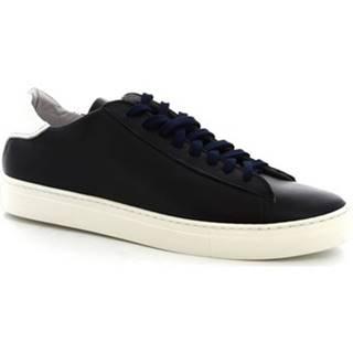 Leonardo Shoes Tenisky SMOOT/B VITELLO BLU Modrá