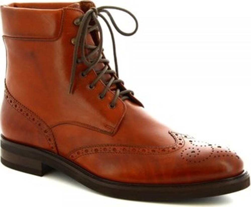 Leonardo Shoes Leonardo Shoes Kotníkové boty 07331/FORMA 40 FULL MARRONE Hnědá