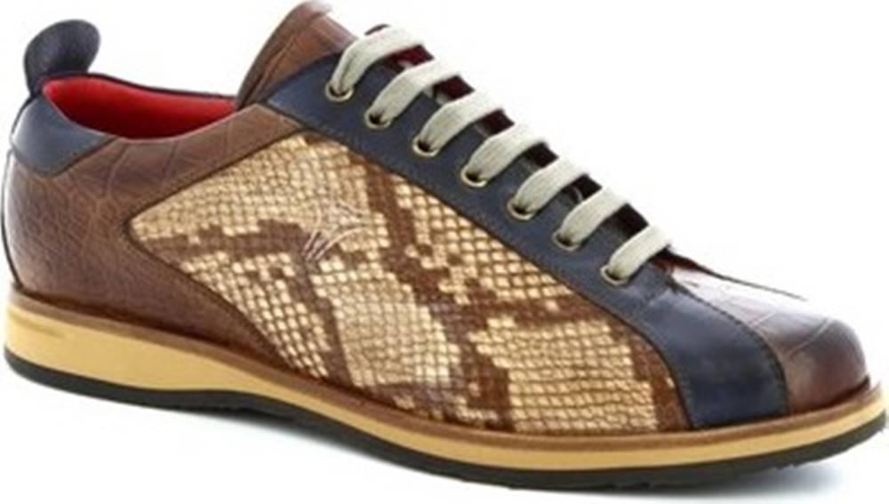 Leonardo Shoes Leonardo Shoes Tenisky 9215/19 COCCO AV BRANDY Hnědá