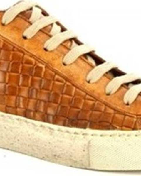 Hnědé tenisky Leonardo Shoes