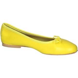 Leonardo Shoes Baleríny 6087 CUOIO NAPPA CEDRO Žlutá