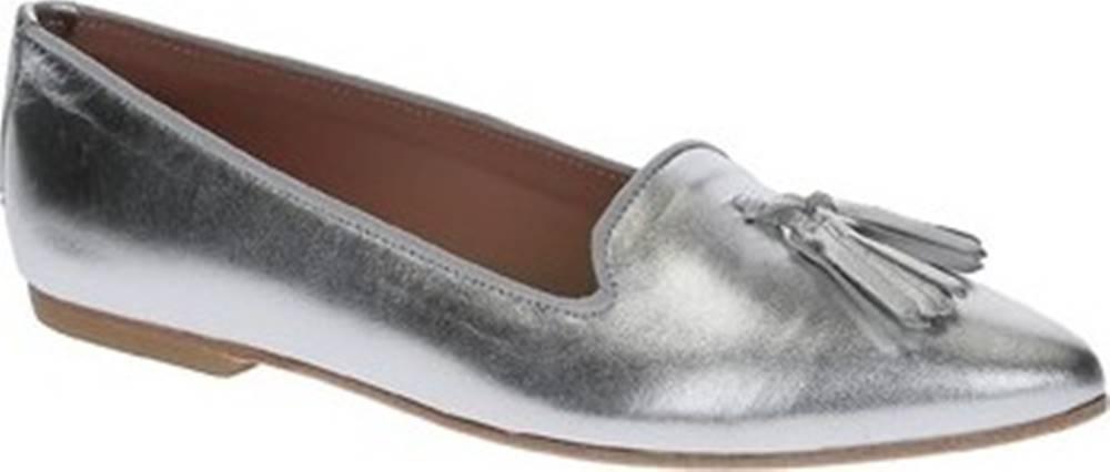 Leonardo Shoes Leonardo Shoes Baleríny 117-20 CUOIO NAPPA ARGENTO Stříbrná