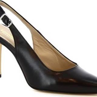 Leonardo Shoes Lodičky 306 NAPPA NERO Černá