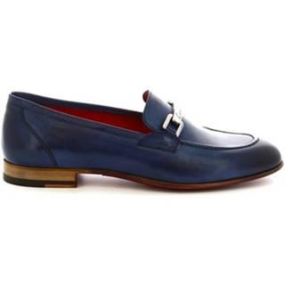 Leonardo Shoes Mokasíny 7841 TOM CAPRI AV AZZURRO Modrá