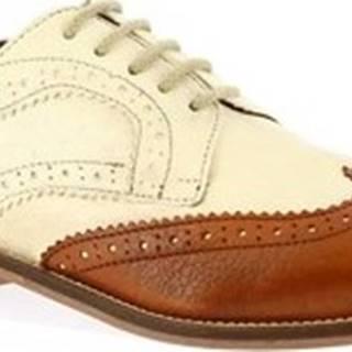 Leonardo Shoes Šněrovací polobotky 331-15 CAPRA CUOIO Hnědá