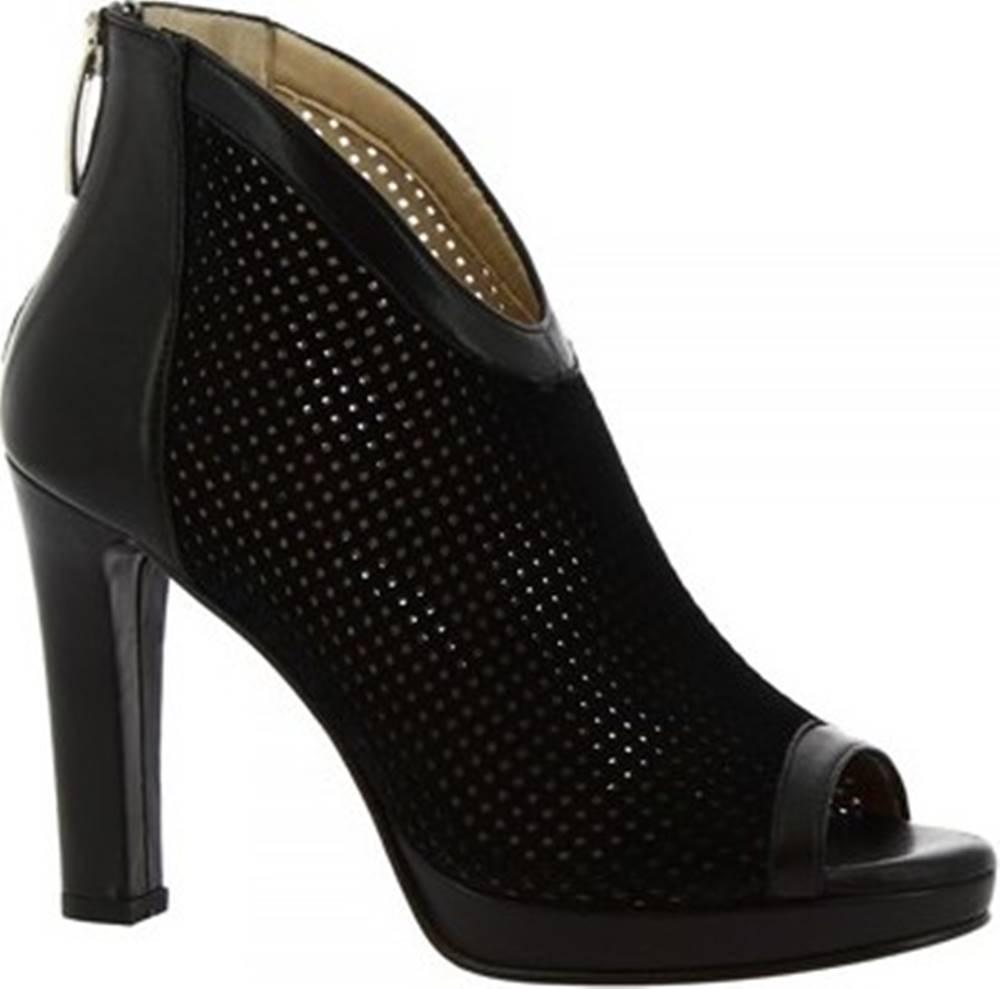 Leonardo Shoes Leonardo Shoes Kotníkové kozačky 142 FORMA 5126 CAM NERO NAPPA NERO Černá