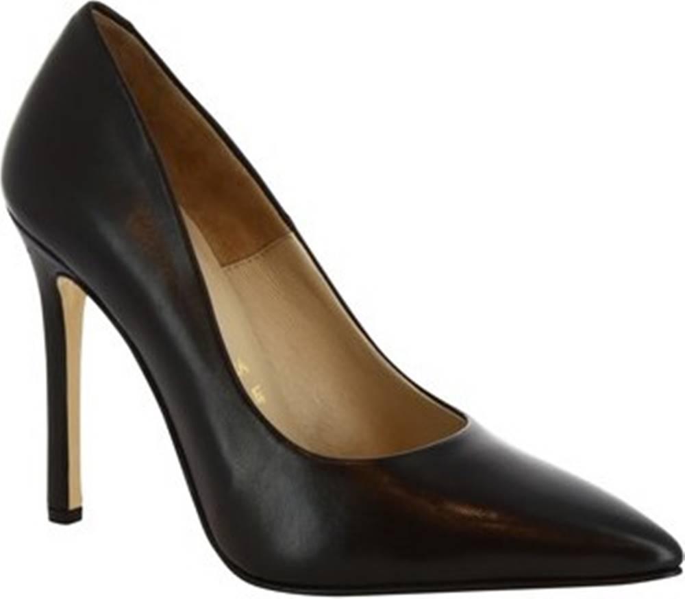 Leonardo Shoes Leonardo Shoes Lodičky 206 NAPPA NERO Černá