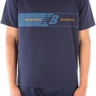 New Balance Trička s krátkým rukávem MT01510NGO Modrá