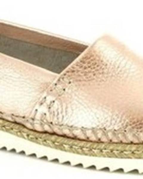 Růžové mokasíny Leonardo Shoes