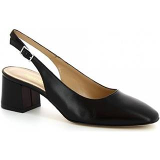 Leonardo Shoes Sandály 9209 NAPPA NERO Černá