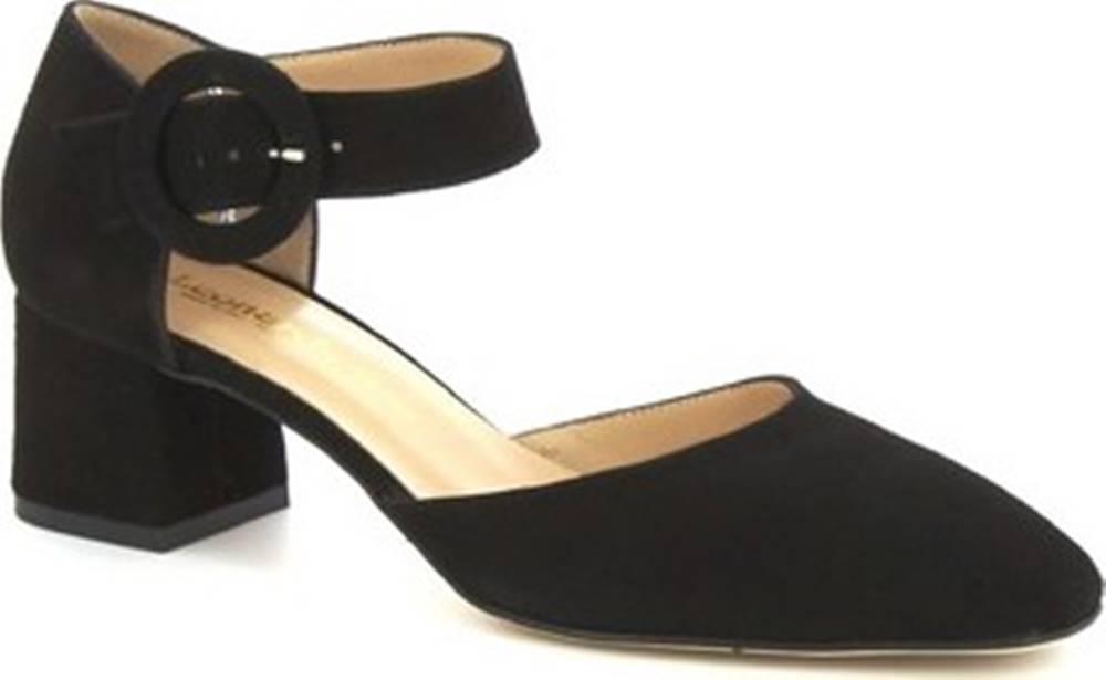 Leonardo Shoes Leonardo Shoes Sandály 8116 CAMOSCIO NERO Černá