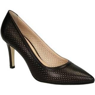 Leonardo Shoes Lodičky 54008 NAPPA NERO Černá