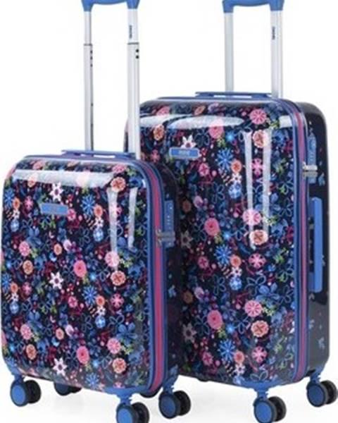 Modrý kufr Skpat