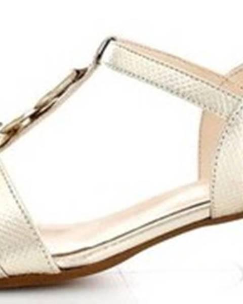 Žluté sandály Linea Uno