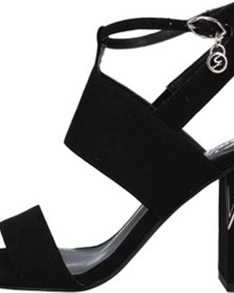 Černé sandály Gattinoni
